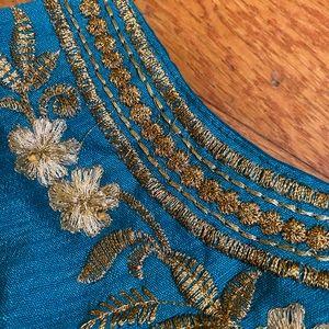 Indian blouse with gold work
